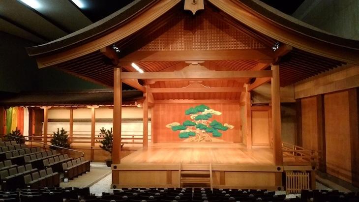京都観世会館の能舞台。