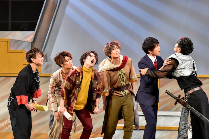 「ボイメンステージ 諦めが悪い男たち~NEVER SAY NEVER~」レッド公演より。