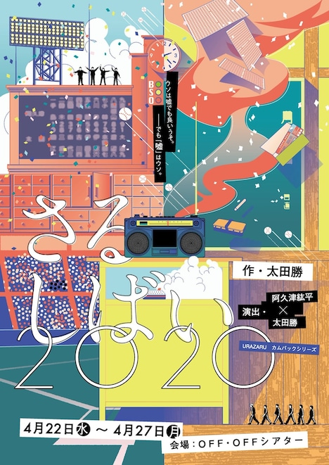 URAZARU カムバックシリーズ 第1弾「さるしばい2020」チラシ表