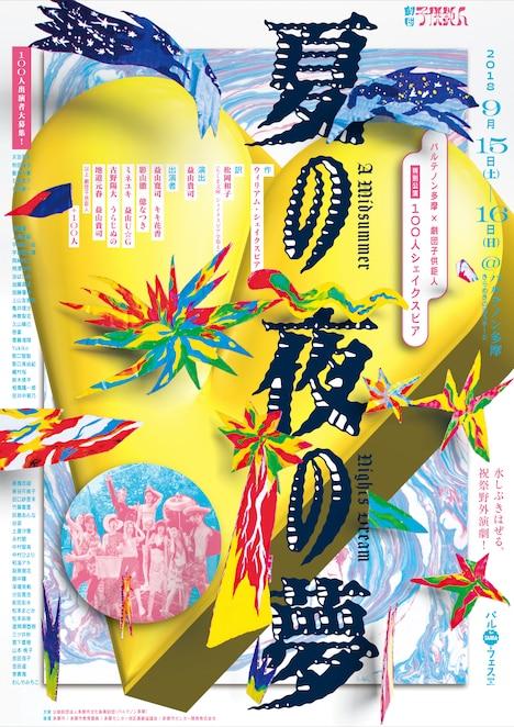 パルテノン多摩×劇団子供鉅人 特別公演「100人シェイクスピア『夏の夜の夢』」ビジュアル