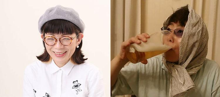 左から徳永京子、豊崎由美。