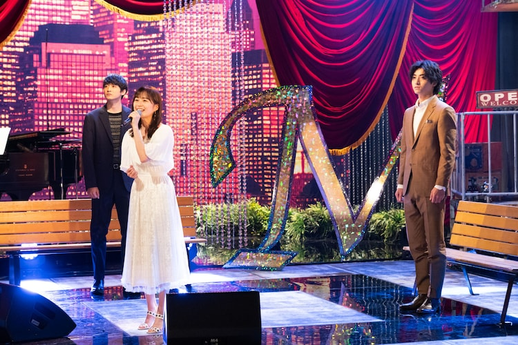 左から小関裕太、生田絵梨花、木村達成。