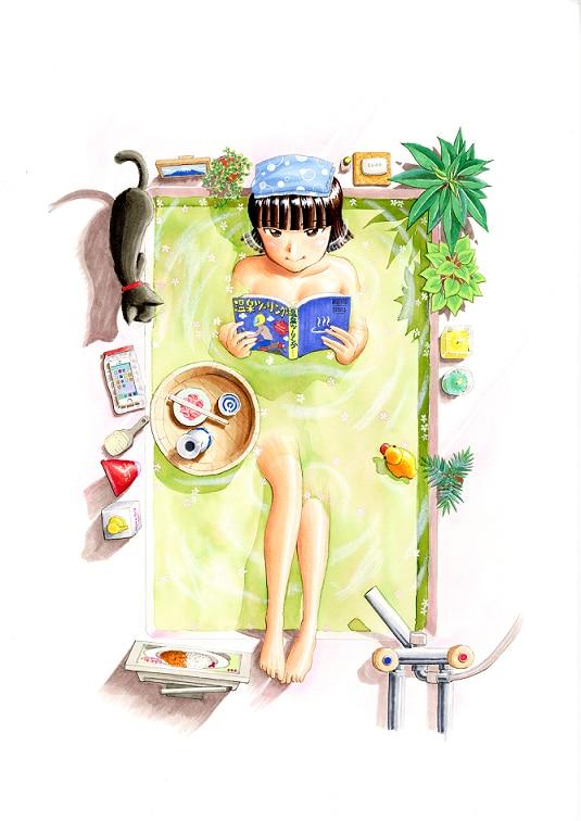 「ふろがーる!」イラスト(c)片山ユキヲ/小学館
