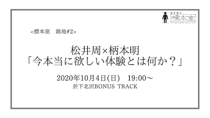 松井周の標本室 路地#2「柄本明×松井周 今本当に欲しい体験とは何か?」ビジュアル