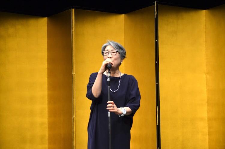 第64回岸田國士戯曲賞授賞式より、永井愛。
