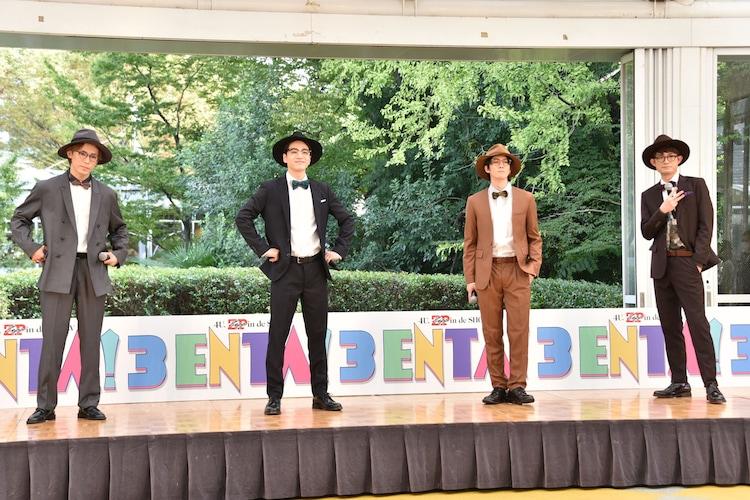 スーツに着替えたふぉ~ゆ~。左から越岡裕貴、福田悠太、辰巳雄大、松崎祐介。
