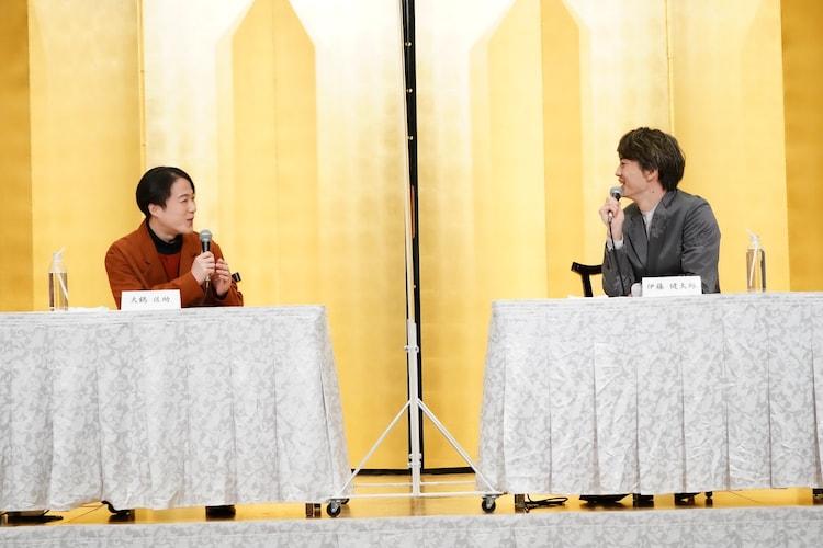 左から大鶴佐助、伊藤健太郎。(撮影:田中亜紀)