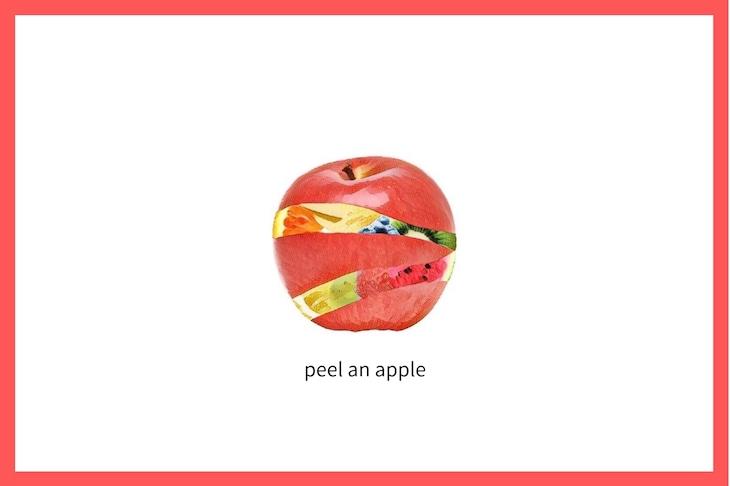 二転三転:「peel an apple」ビジュアル