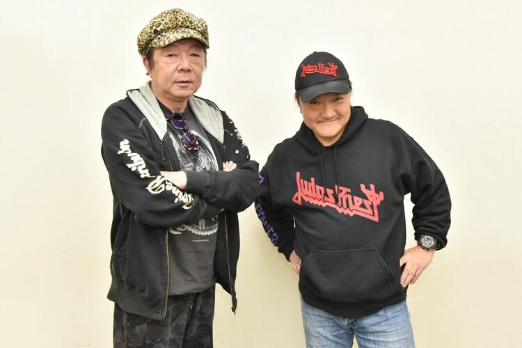 左から古田新太、いのうえひでのり。