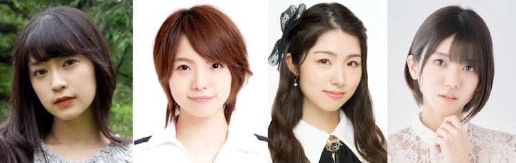 左から岩田陽葵、生田輝、岩立沙穂(AKB48)、大西桃香(AKB48)。