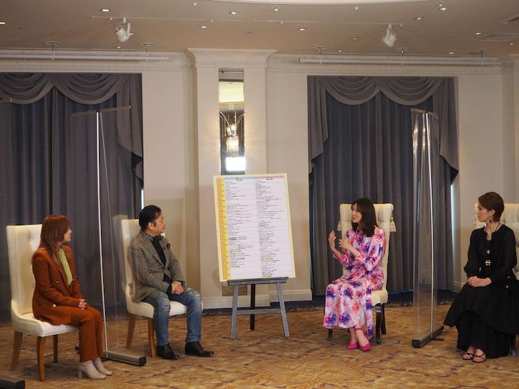 CSテレ朝チャンネル1「ミュージカル女優&作品の情報番組『歌劇のプリンシパル』」収録の様子。