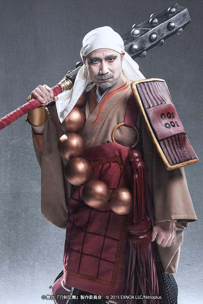 坂口修一扮する三好清海入道。