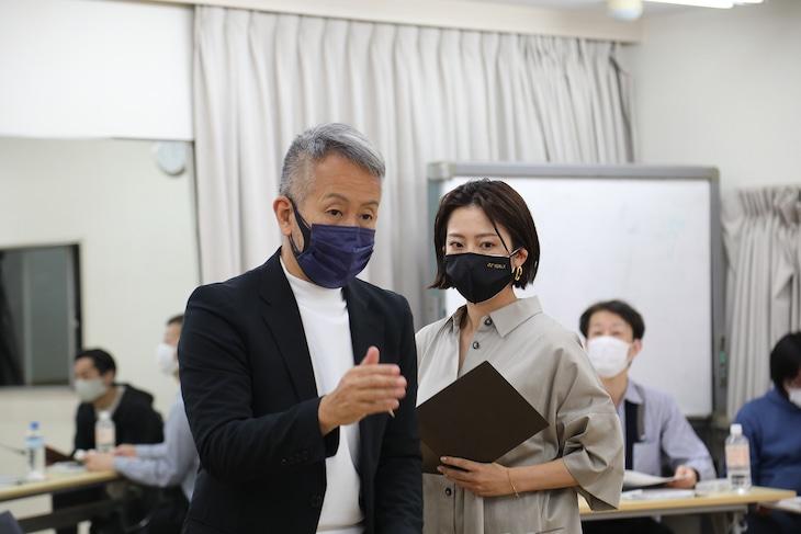 「日本一わきまえない女優『スマコ』~それでも彼女は舞台に立つ~」稽古の様子。