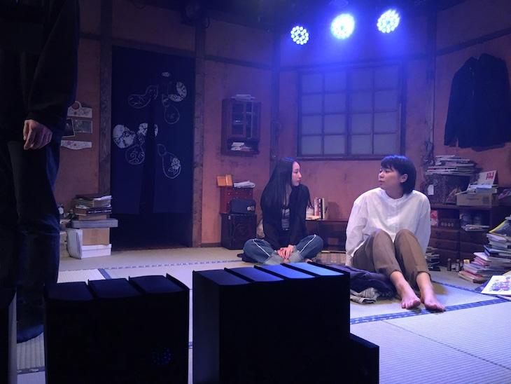 LORE.p First project「夜半の月」舞台稽古の様子。