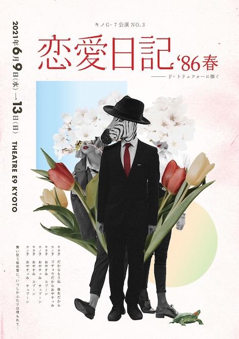キノG-7 No.3「恋愛日記'86春」チラシ表