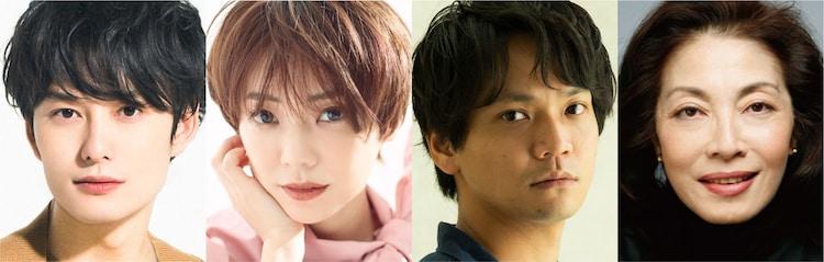 左から岡田将生、倉科カナ、竪山隼太、麻実れい。