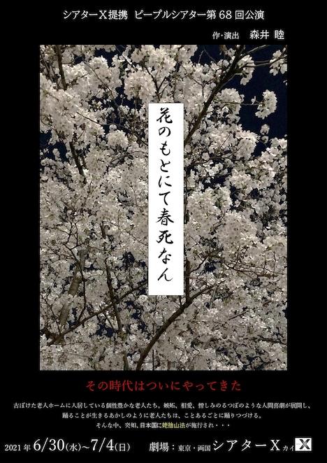 ピープルシアター 第68回公演「花のもとにて春死なん」チラシ表