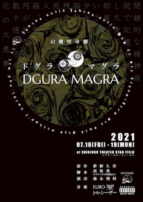 PSYCHOSIS #001 幻魔怪奇劇「DGURA MAGRA―ドグラ・マグラ-」チラシ表
