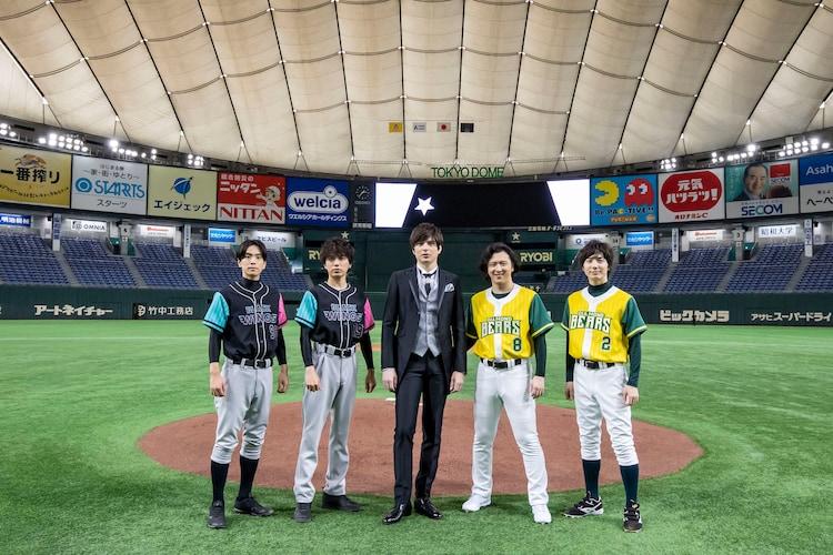 左から黒羽麻璃央、山崎育三郎、城田優、尾上松也、和田琢磨。