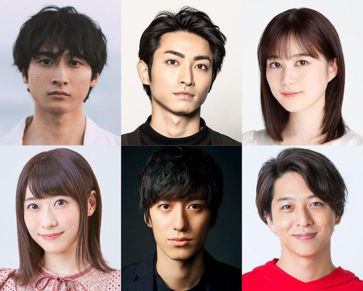 ミュージカル「四月は君の嘘」キャスト。上段左から小関裕太、木村達成、生田絵梨花。下段左から唯月ふうか、水田航生、寺西拓人。