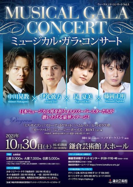 「ウィークエンド・コンサート Vol.5 『ミュージカル・ガラ・コンサート』」チラシ