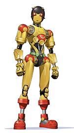 午太郎と博志が生み出したロボット、A106(CV:井上雄貴)。