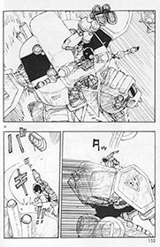 ロボット・レスリングで戦うA106。
