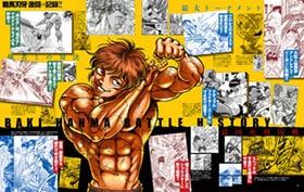 「最大トーナメント編」より、「範馬刃牙 激闘の記録!!」。
