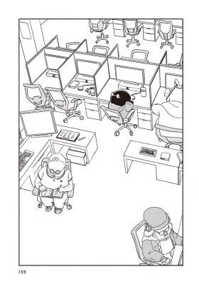 バクちゃんは2巻でコールセンターのバイトを始める。