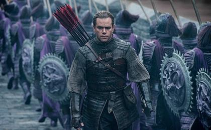 映画「グレートウォール」より。マット・デイモン演じる傭兵のウィリアム。