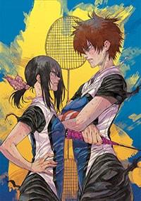 「はねバド!」15巻特装版に付属するミニ画集より、good!アフタヌーン2015年9月号の表紙イラスト。