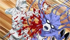 テレビアニメ「はたらく細胞」より、細菌を倒す白血球。