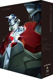 アニメ「ULTRAMAN」Blu-ray BOX。ULTRAMAN SUITのカラータイマー部分をアップにしたジャケットイラストは、清水栄一×下口智裕による描き下ろしだ。