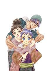 「ボクを包む月の光」より、輪、亜梨子、そして彼らの息子・蓮。