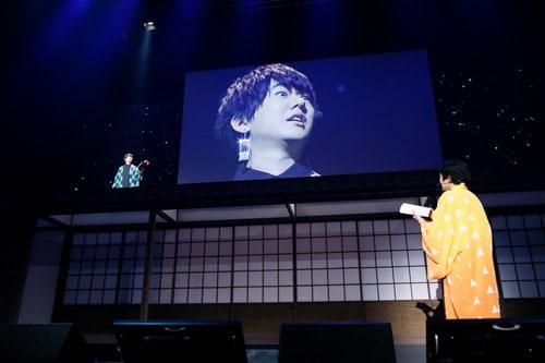 TVシリーズで善逸と再会したシーンの炭治郎の表情を花江が再現してみせ、客席の笑いを誘った。