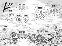 見開きで描かれた、秦と合従軍の配置図。