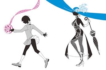 「せっかち伯爵と時間どろぼう」イラスト(「悔画展」収録)