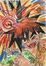 「太陽の戦士ポカポカ」イラスト(「悔画展」収録)