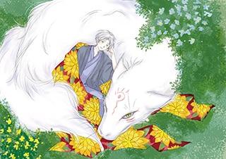 「夏目友人帳」のカラーイラスト。