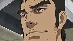 アニメ「メガロボクス」第2話より、藤巻。