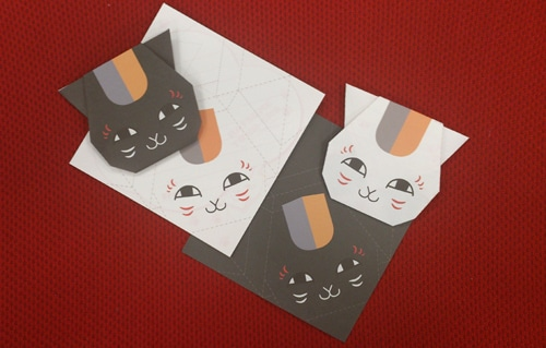 「ニャンコ先生折り紙メモ」
