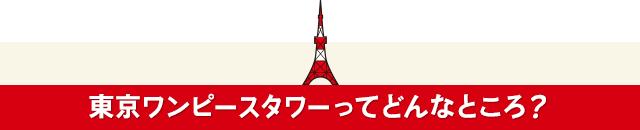 東京ワンピースタワーってどんなところ?