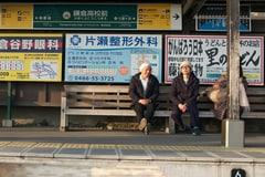 左から湯浅政明、松本大洋。