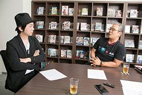 左から上町裕介プロデューサー、松倉友二プロデューサー。