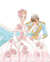 「さいとうちほ画集 NEE LA ROSE-薔薇に生まれて-」の表紙イラスト。