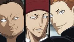 左からまりお(CV:武内健)、あっちゃん(CV:杉田智和)、ケンケン(CV:檜山修之)。
