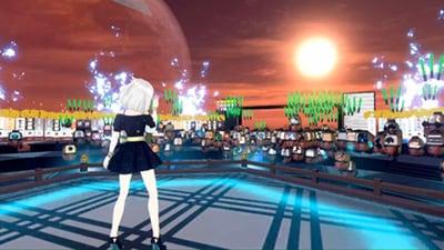 「cluster」で行われたバーチャルタレントによるライブ風景。