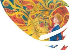 「セキセイインコ」1巻のカバーイラスト。色鉛筆のみで着彩されている。