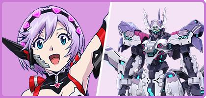 ヒカリ(CV:小松未可子)。戦場でも明るくポジティブな少女。搭乗エア・リアルは「ソリディア」。