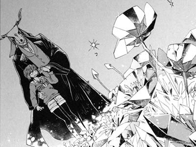 """「魔法使いの嫁」第2話(1巻収録)より。アンジェリカに促され、""""練習""""としてチセが魔法を使うシーン。"""